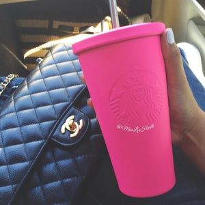 Never before used Hot Pink Starbucks Tumbler